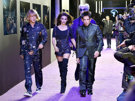 Ben Stiller and Penélope Cruz Turn the Zoolander 2 Premiere Into a High-Fashion Runway