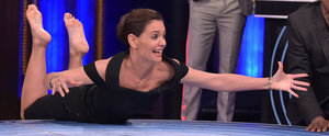 Katie Holmes Gets Extremely Competitive While Playing Musical Beers With Ryan Reynolds