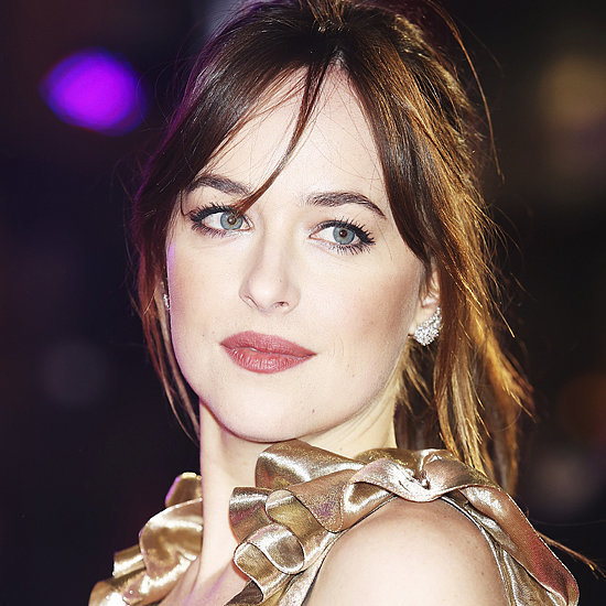 Dakota Johnson's Gold Dress at How to Be Single Premiere