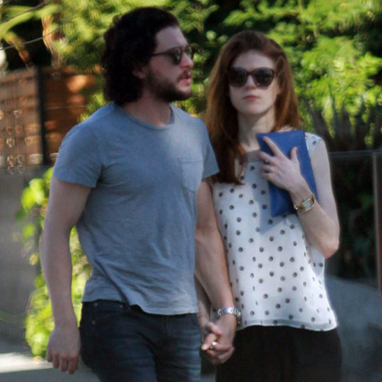 Kit Harington and Rose Leslie Out in Hollywood February 2016