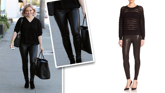 Your February Splurge Item Has Arrived–Treat Yourself To Hilary Duff's Leather Leggings