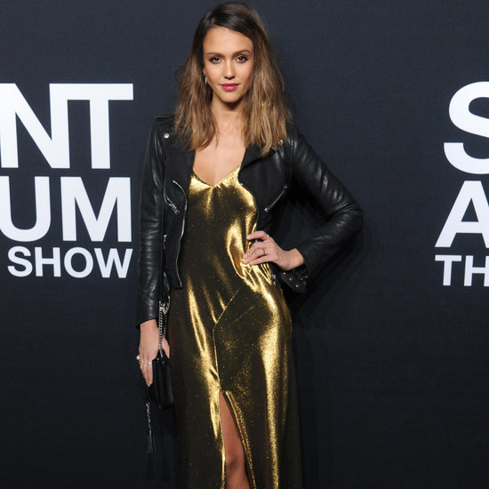 Jessica Alba at Saint Laurent Show Fall 2016