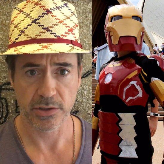 Robert Downey Jr. Helps Make-A-Wish Kid Become Iron Boy