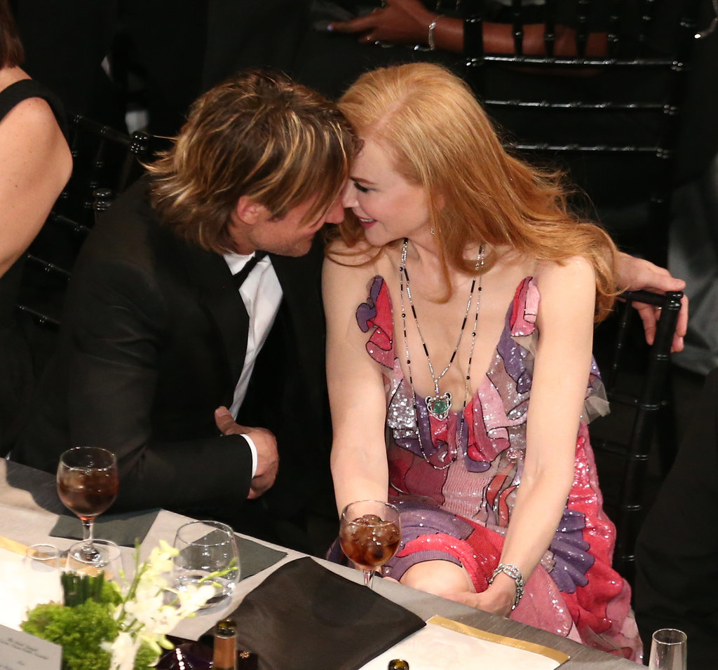 Nicole and Keith shared an intimate moment at the 2016 SAG Awards in LA in January.