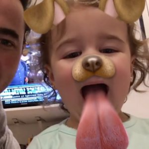Kevin Jonas's Daughter on Snapchat Video
