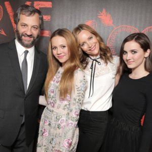Judd Apatow With Leslie Mann and Daughters at Love Premiere