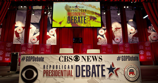 Read Live Updates From The CBS Republican Debate