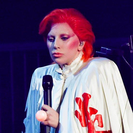 Lady Gaga David Bowie Grammys Tribute Makeup