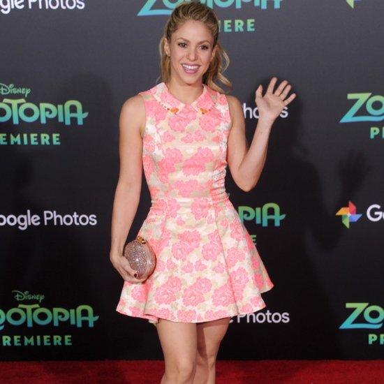 Shakira's Pink Dress at Disney's Zootopia Premiere