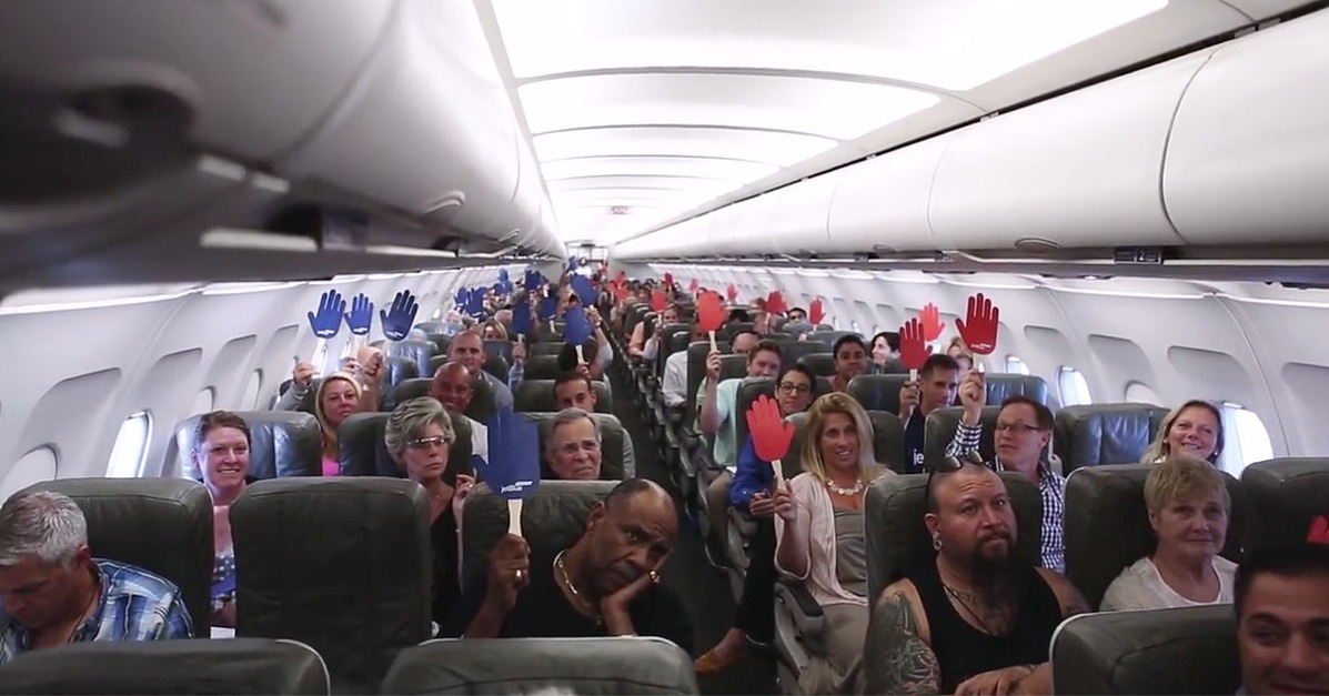 JetBlue Asks People To 'Reach Across The Aisle' And You'll Never Guess Why