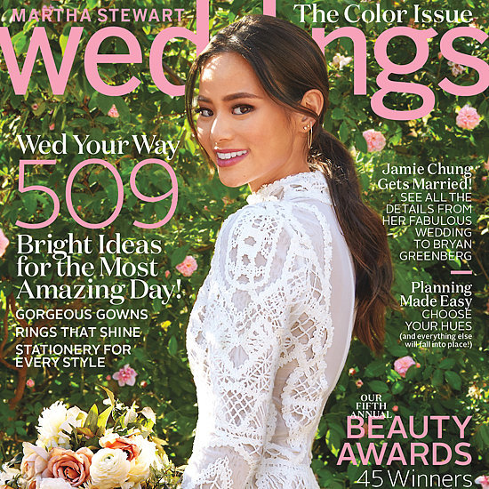 Jamie Chung's Wedding Dress in Martha Stewart Weddings 2016