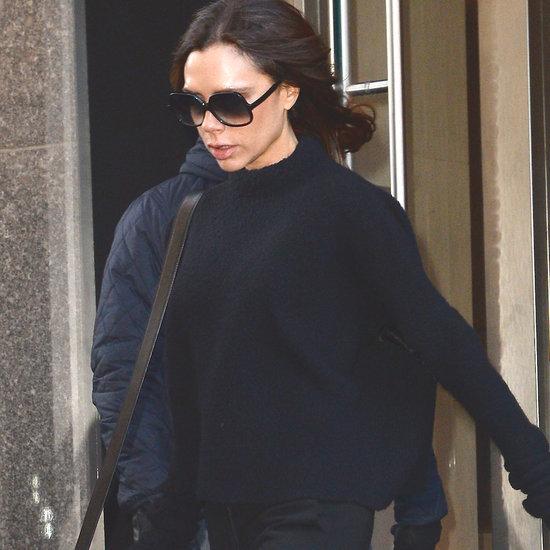 Victoria Beckham Wears Light-Up Flat Sneakers