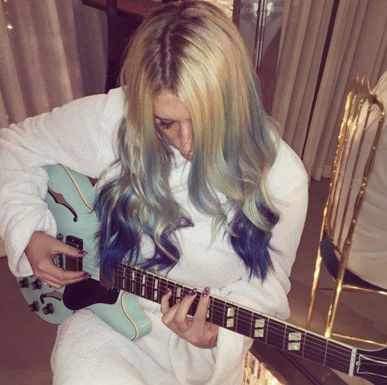 Kesha's Blue Mermaid Mane and More Celebrity Rainbow Hairstyles