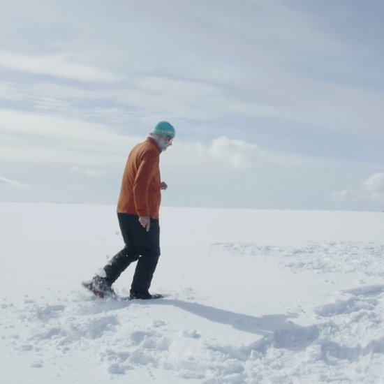 Snow Artist Walks 40,000 Steps