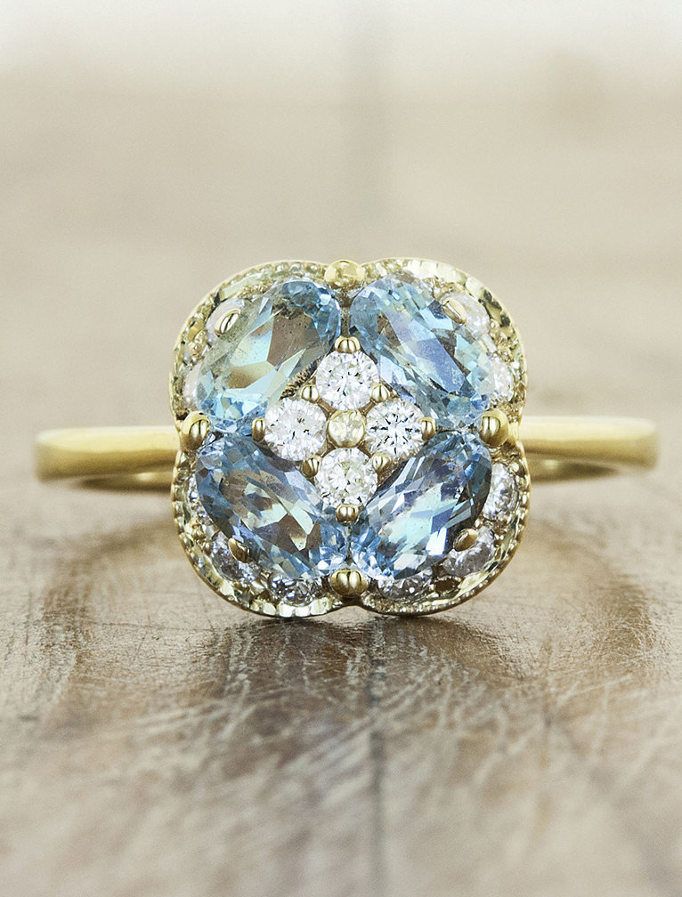 Ken & Dana Design Chloe ring in aquamarine $1 950