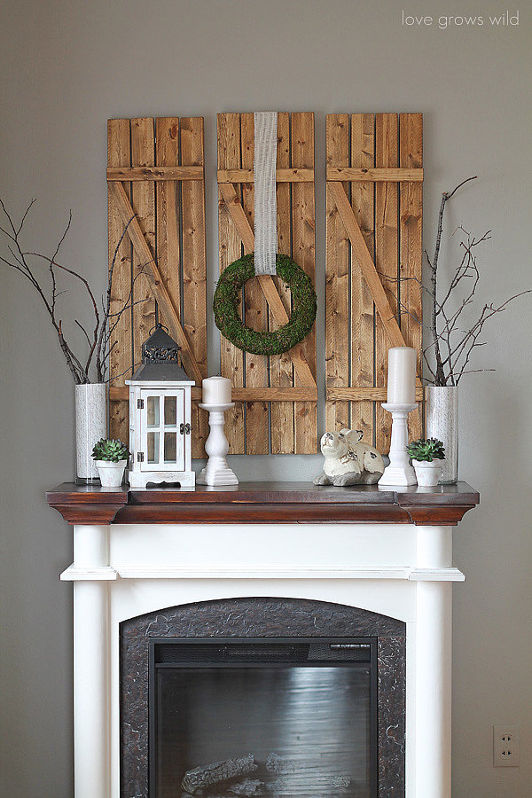 how to decorate your mantel for spring popsugar home