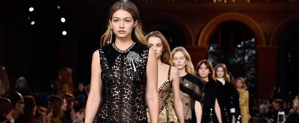 See Gigi Walk the Sonia Rykiel Runway in Furry Heels and a See-Through Dress