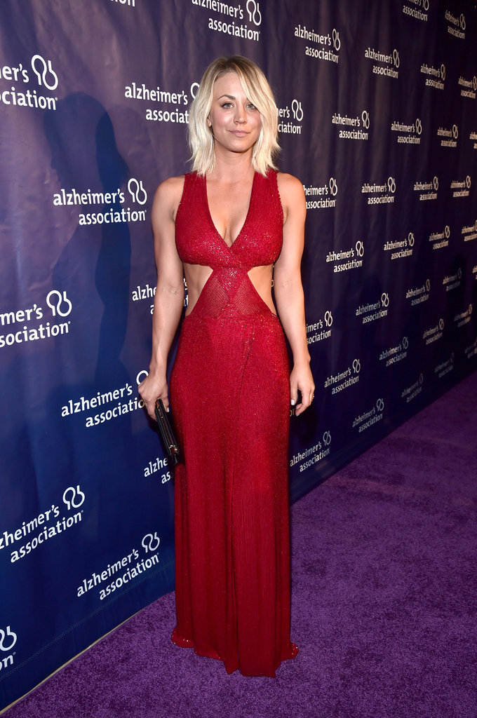 """It's safe to say that Kaley Cuoco just keeps getting hotter. On Wednesday, the actress hit the red carpet for the Alzheimer's Association's """"A Night at Sardi's"""" benefit in Beverly Hills, and we couldn't ignore the fact that she looked smokin' hot."""
