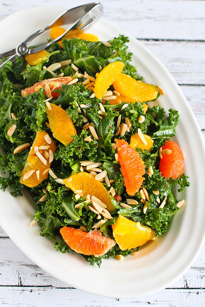 Kale, Toasted Almond, and Orange Salad