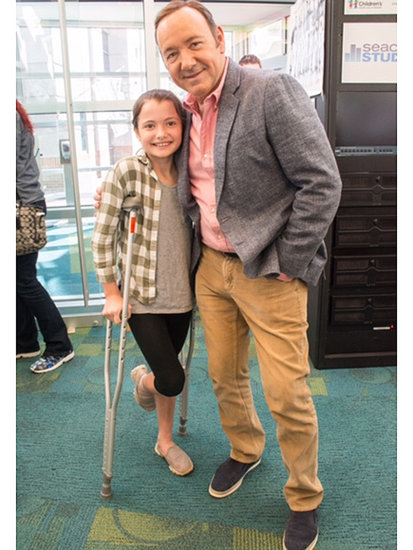Kevin Spacey Brings Smiles, Laughs and a Bright Young Star to Children's Healthcare of Atlanta