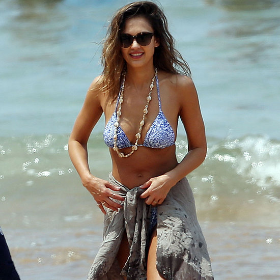 Jessica Alba sizzles in tiny bikini as she reveals assets