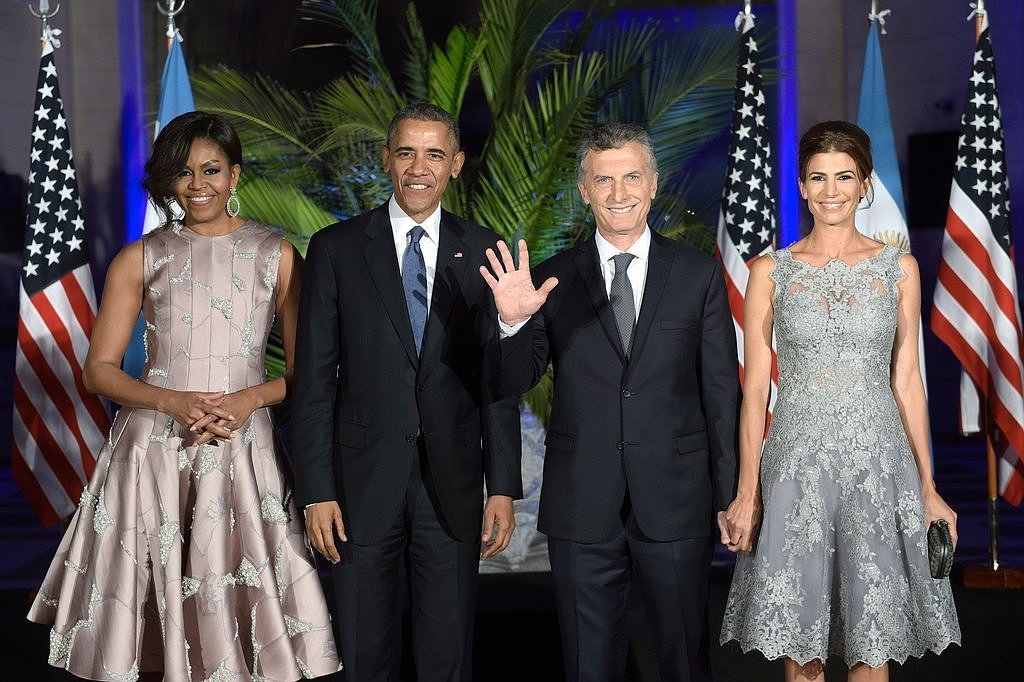 The president and first lady enjoyed a fancy night out at the state dinner hosted by Argentinian President Mauricio Macri in March 2016.