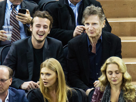 Boys' Night Out! Liam Neeson and His Sons Cheer On Their Team at a NHL Game in N.Y.C.