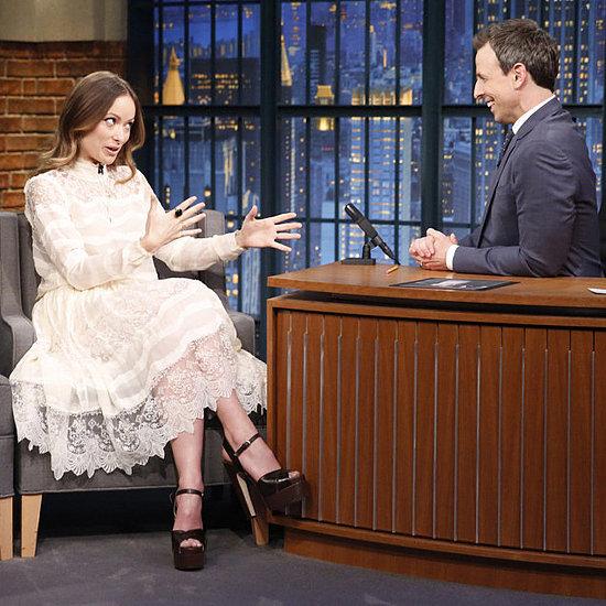 Olivia Wilde's H&M Dress on Late Night With Seth Meyers