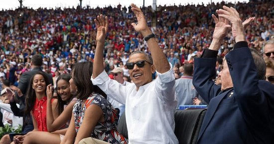 Dad-in-Chief Barack Obama Embarrasses Sasha by Doing the Wave