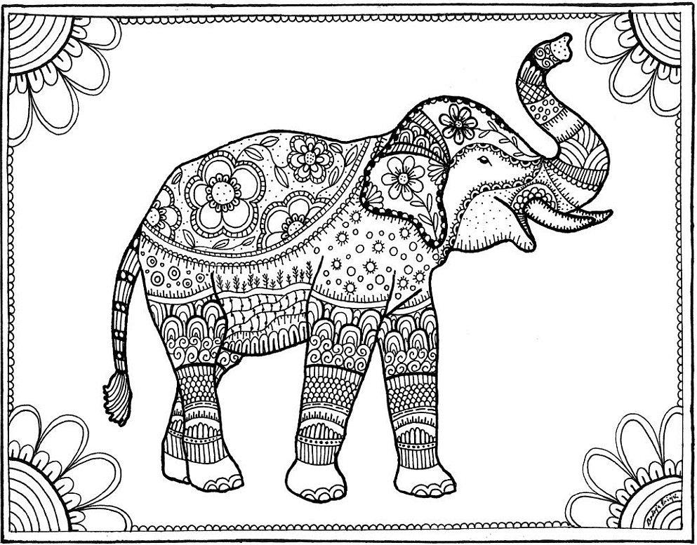 Elephant 20 Free Coloring Book Printables Popsugar