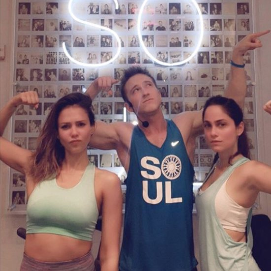 Jessica Alba at SoulCycle