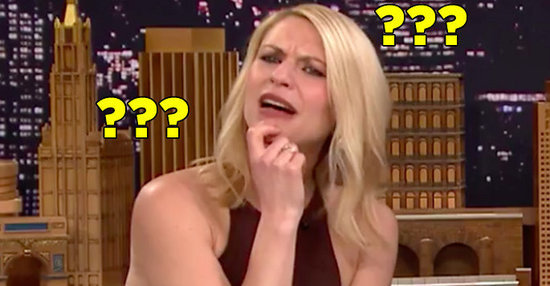 """Claire Danes Seemed Very Confused Playing """"Family Feud"""" With Jimmy Fallon"""