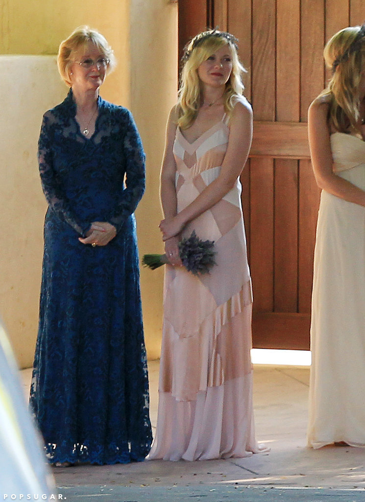Kirsten Dunst was the maid of honor at a pal's wedding in Santa Barbara, CA in 2012.