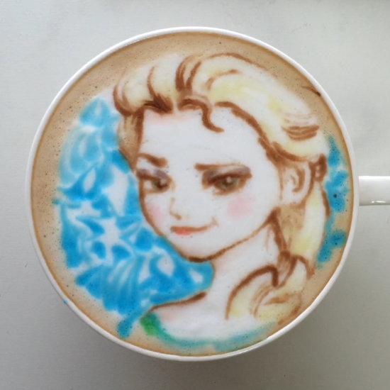 Frozen's Elsa Latte Art