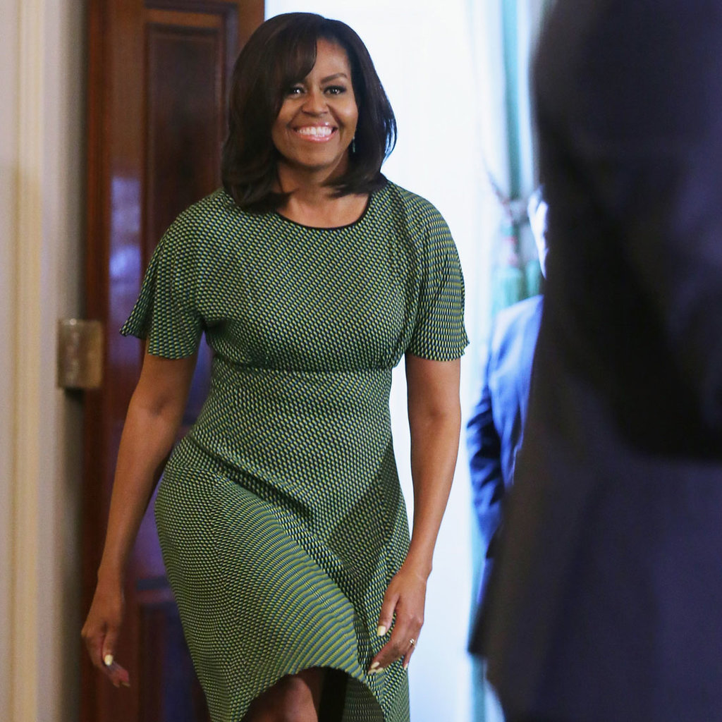 Michelle Obama Wears Michael Kors Dress Again Popsugar