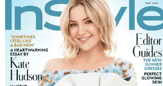 Kate Hudson Looks Like a Floating, Spring Sprite on the Cover of InStyle