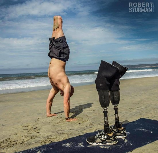 Double Amputee Veteran Teaches Yoga