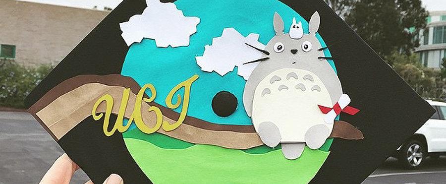 Studio Ghibli Cap-Decorating Ideas For Extraspirited Graduates