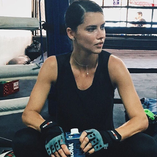 Adriana Lima's Boxing Wound Selfie