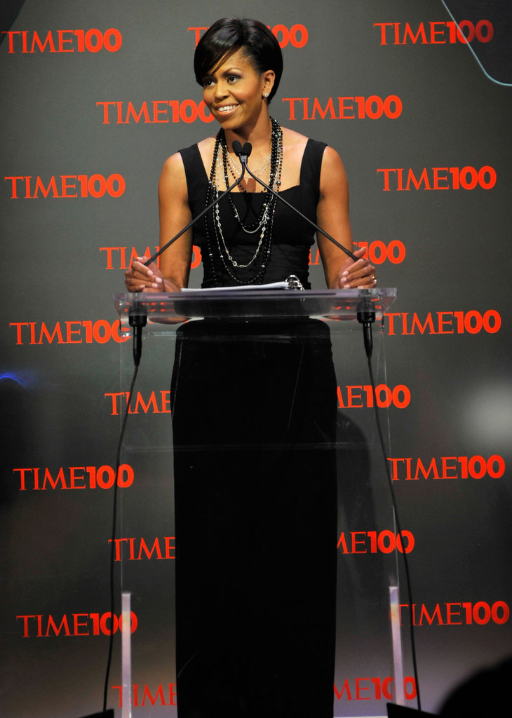Wearing Michael Kors at Time's 100 Most Influential People in the World dinner.