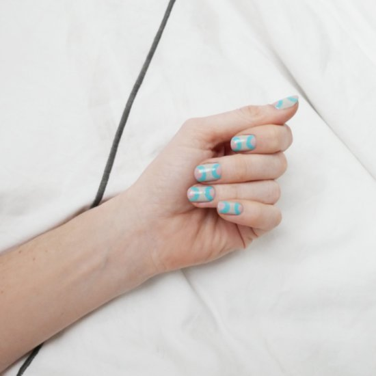Double-Half-Moon Manicure DIY