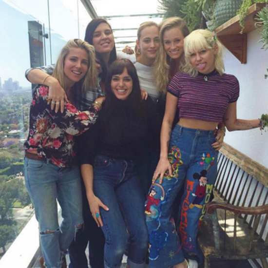 Miley Cyrus Has Lunch With Elsa Pataky in LA April 2016