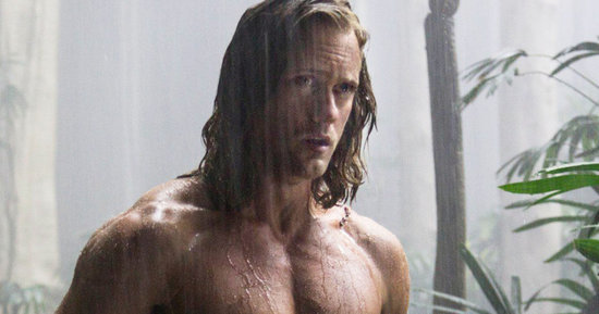 Alexander Skarsgård's Abs Literally Quiet a Room