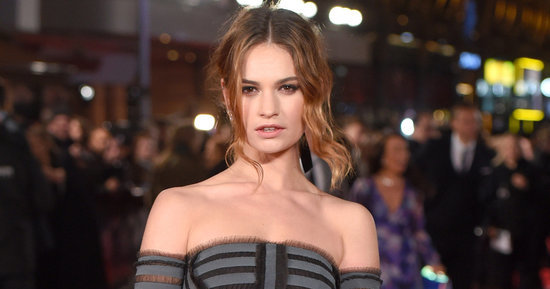 Lily James's Face Has a New Job With Burberry