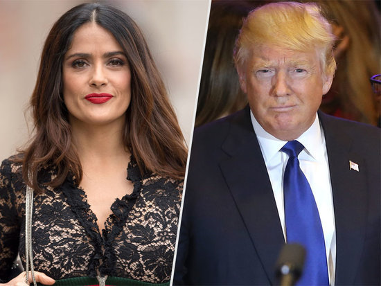 Salma Hayek Calls Out Donald Trump After Mixing Up 7-Eleven with 9/11