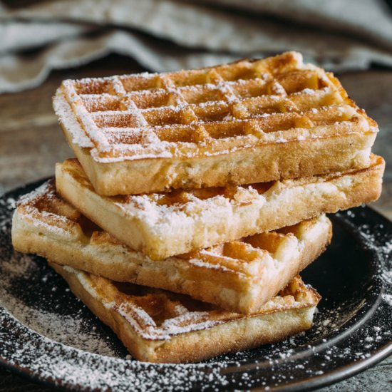 Elevate Breakfast Time With These Coconut Waffles With Lime Sugar
