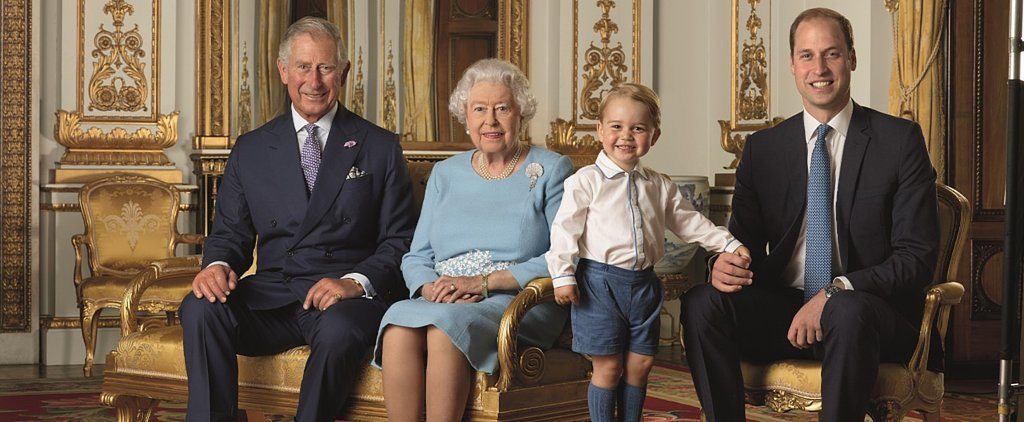 And George Makes 4: The Queen and Her Heirs Pose For a New Set of British Stamps