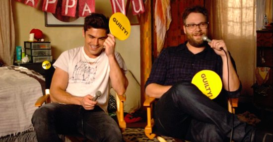 "Zac Efron And Seth Rogen Play ""Never Have I Ever"""
