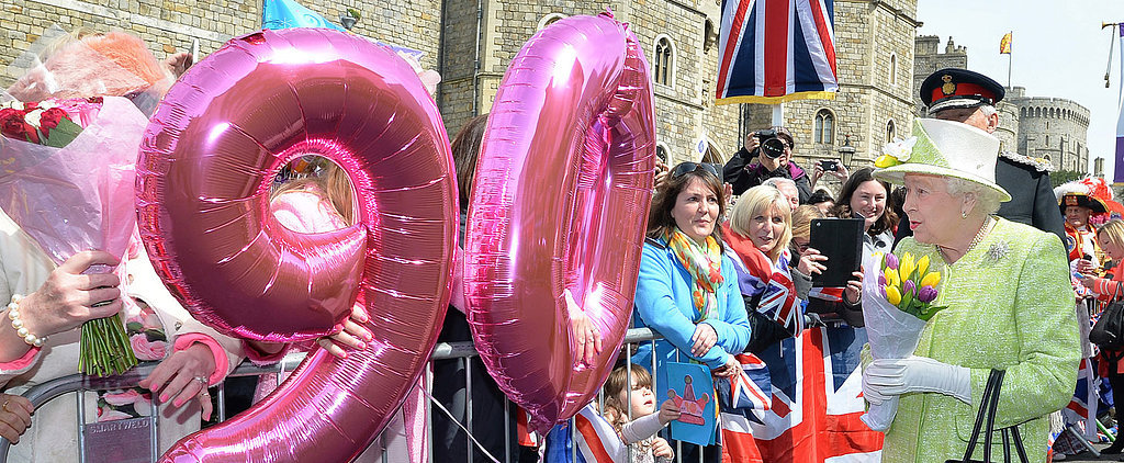 Queen Elizabeth II Celebrates Her 90th Birthday With Balloons, Cake, and Dedicated Fans