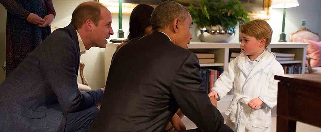 Prince George Casually Meets Barack and Michelle Obama — in His Pyjamas